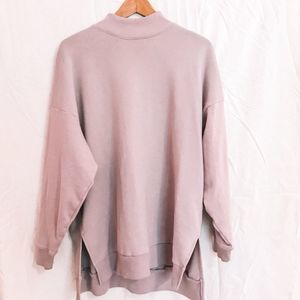 American Eagle High Neck Sweatshirt Lilac